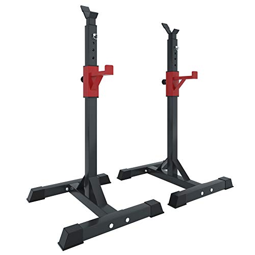 Gym Squat Rack Stands Set, Adjustable Dumbbell Rack Storage Holder Multi-Function Metal Fixed Barbell Bench Rack Home Weight Plate Lifting Rack for Women Men Fitness, Max Load 260Kg (Rack Only)