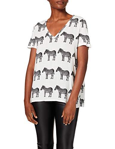 Desigual TS_BOKAN T-Shirt, Bianco, S Donna