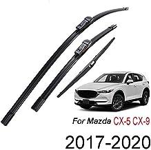 Xukey juego de escobillas limpiaparabrisas delanteras y traseras para CX-5 CX-9 2017 2018 2019 2020 (juego de 3)