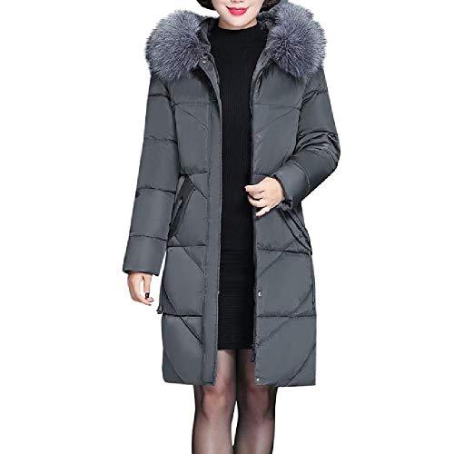 Nobrand Plus Size vrouwen mantel en jacks winter warm slank dikke lange parka's met capuchon kunstbont. Winter kleding vrouwen jas mantel