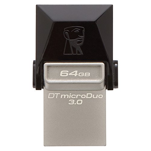 Kingston DTDUO3/64GB - Memoria USB (64 GB, USB 3.0/Micro-USB, 5 V, Flash), negro