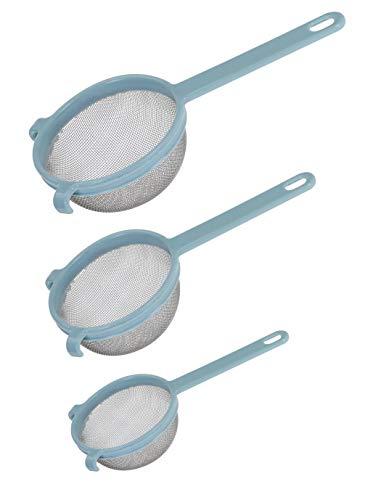 Set di 3 colini in acciaio inox con manico in plastica pastello 10-13-18