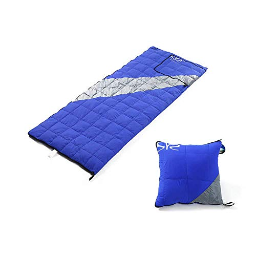 TYUXINSD Calentar Bolso de Dormir para Acampar 3 Temporada Mamá Bolsa de Dormir Repelente de Agua Confort Unisex Outdoor Relleno Bajo para Dormir (Color: Azul) (Color : Blue)
