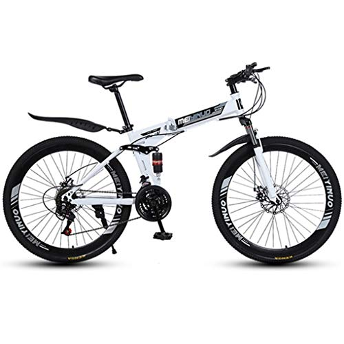 WGYDREAM Bicicleta Montaña MTB Bicicleta De Montaña, Bicicletas De Suspensión Completa Plegable De MTB, Suspensión Doble Y Doble Freno De Disco, Ruedas De Radios De 26 Pulgadas Bicicleta de Montaña