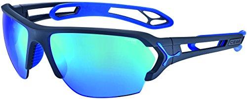 Cébé S'Track Gafas, Unisex Adulto, Azul/Gris (Mate), L