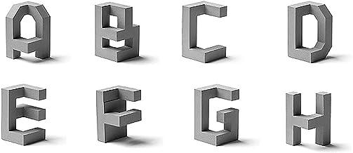 Pai Driedimensionale Architecturale Kunst, Cement Brief Sculptuur, Creatieve Wanddecoratie, Postmodernisme English Lettert...