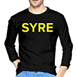 Syre Jaden Smith T-Shirts for Men Long Sleeve Cotton Muscle Shirt Regular Shirts Black