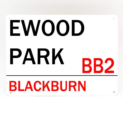 Blackburn ewood Park signe de porte en métal