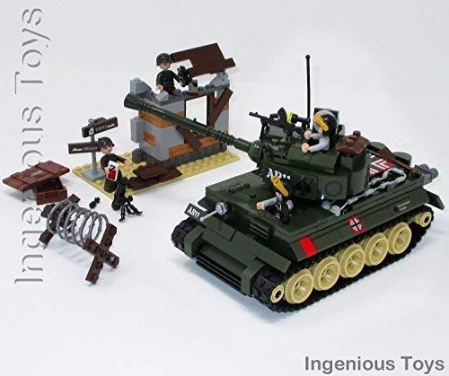Ingenious Juguetes Gerra Mundial 2 Militar Batalla Tanque & arruinando CONSTRUCCIÓN / 214pcs Bloques de Construcción Construcción Set #1711