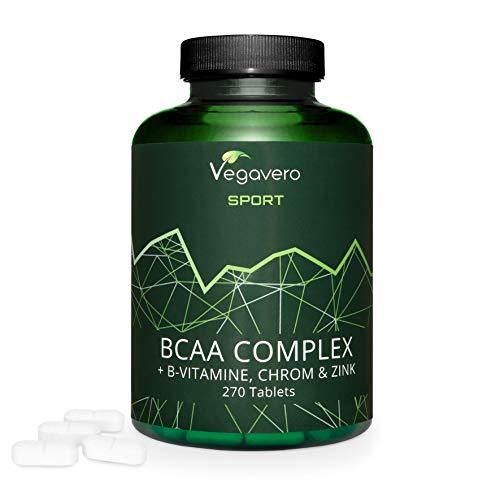 BCAA Vegavero Sport®   5000 mg   270 Comprimés   SANS ADDITIFS   BCAA VEGAN avec Vitamines B + Chrome + Zinc  ...