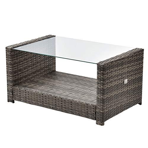 SVITA Roma Gartenmöbel Set Poly-Rattan Möbel Outdoor Lounge Garnitur (Braun) - 3