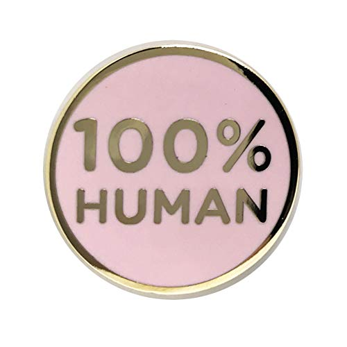 100% Human Lapel Pin - Funny Brooch for T-Shirt Hat Jacket Hoodie