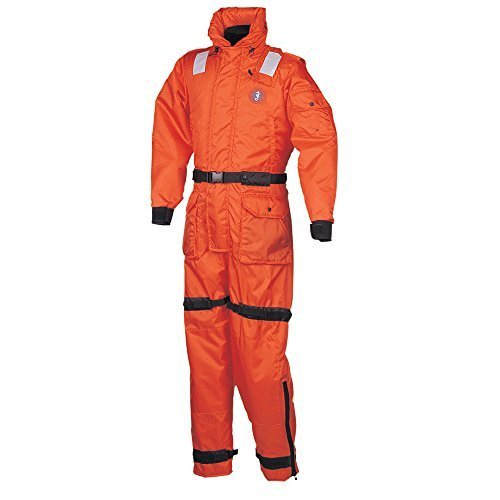Read About Mustang Deluxe Anti-Exposure Coverall and Worksuit - Large, Orange by Mustang Survival