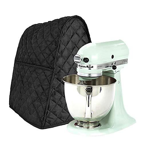 Mischer Abdeckung Staubdichte Abdeckhaube für die meisten Mixer/Standmix/Juicer/Kaffemaschine mit Aufbewahrungstasche, Abdeckhaube für Kitchen Aid Mischer (Black)