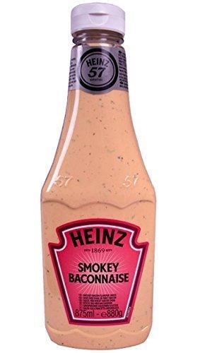Heinz Smokey salsa de mesa condimento con tocino 875ml NUEVO