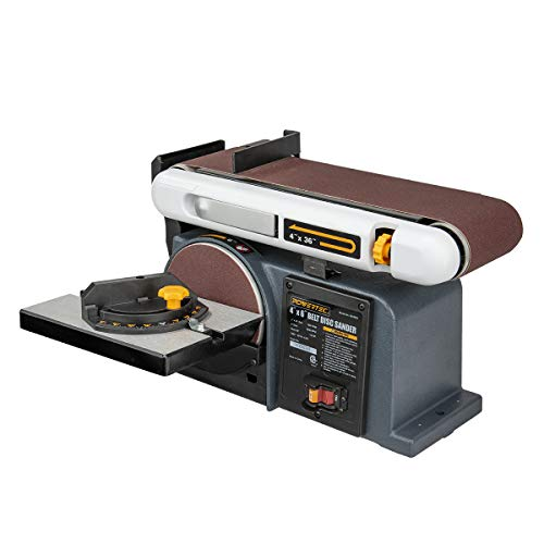 POWERTEC BD4600 Belt Disc Sander For Woodworking | 4 In. x 36 in. Belt Sander with 6...