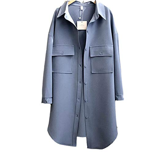 Initial Heart dames winterjas Solid Color lange trenchcoat