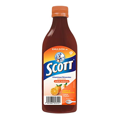 Emulsion de Scott Multivitamínico, Naranja, 200 ml