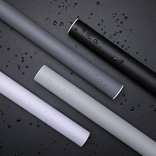 KINLO 60x500cm Möbelfolie Matt schwarz Nicht glänzend Verdickte Neueste Tapete wasserdicht Dekorfolie Schimmelbeweis Küchenfolie selbstklebend Möbel Stickerfolie Für die Küche Schlafzimmer Wand