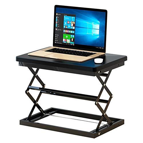 AIOEJP Sit-Stand Elevating Monitor Workstation, Höhenverstellbarer Schreibtischkonverter Home Office Tabletop Für Monitor Und Laptop