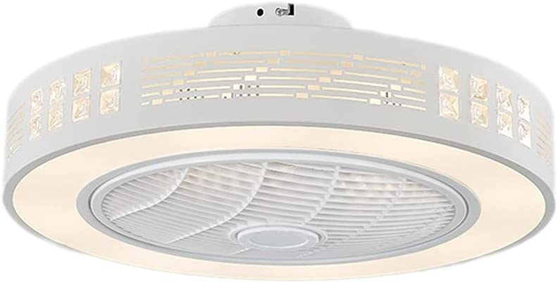 Ventiladores para el Techo con Lámpara Fin de ventilador de techo moderno, pantalla hueca, ventilador de techo de perfil bajo con luz, con control remoto, velocidad de viento ajustable y brillo ajusta