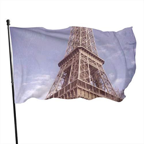 N/A Bandera de la Guardia Americana, banderas para el hogar, torre EIFELL PARIS FRANCIA, patio vertical para decoración de patio o universidad, 3 x 5 pies