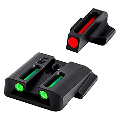 TRUGLO Fiber-Optic Front and Rear Handgun Sights for Smith & Wesson M&P Pistols, S&W M&P (Including Shield & .22 Models, excluding .22 Compact/C.O.R.E. Models) SD9 and SD40 (excluding VE Models)