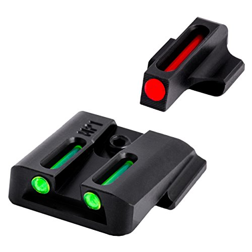 Truglo Fiber-Optic Front and Rear Handgun Sights for Smith & Wesson Pistols, S&W M&P, SD9 and SD40