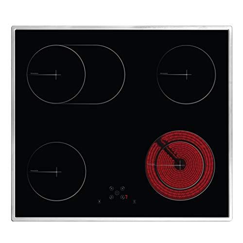 Simfer SMF-BIH 5119 Elektro-Kochfeld mit Rahmen   Autarkes Glaskeramik-Kochfeld   60 cm   4 Kochfelder   Touch-Bedienung   Zweikreiszone   Bräterzone   Kindersicherung