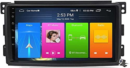 Dmnsdd Coche Estéreo Sat Android 10.0 Radio Para Mercedes Benz Smart 2005-2010, Navegación Gps Unidad De Cabeza De 9 Pulgadas Reproductor Multimedia Mp5 Video (Size:ocho núcleos,Color:WIFI:2GB+32GB)