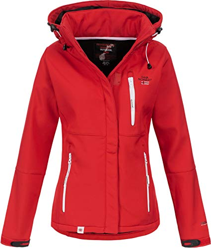Geographical Norway Damen Outdoor Softshelljacke Touna B Kapuze red XXL