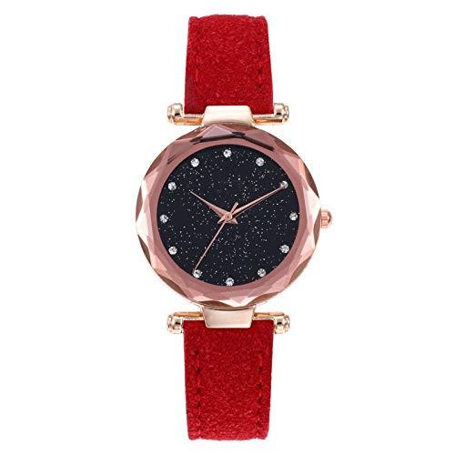 JZDH Relojes para Mujer Reloj de Moda de Cuarzo de Cuero para Mujer Reloj de Moda Reloj Reloj Reloj Relojes Decorativos Casuales para Niñas Damas (Color : Multicolor)