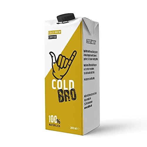 Cold Bro Fertigdrink – Cold Brewed Coffee I Kaltgebrühter Bio Kaffee mit erfrischend leichtem Kaffeegeschmack, fruchtigen Noten & Nuancen von Nuss und Vanille I 1x 200ml Cold Brew Kaffee I Vegan