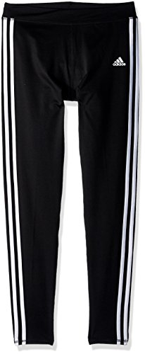 adidas Girls' Big Performance Tight Legging, Black Adi, Small