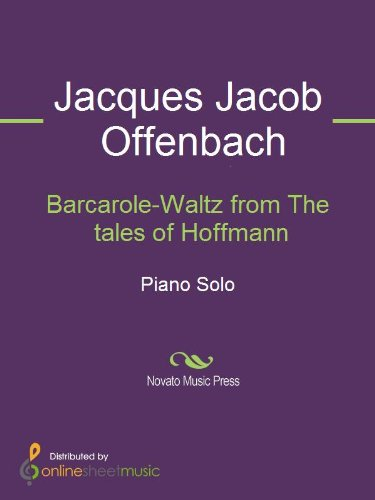 Barcarole-Waltz from The tales of Hoffmann - Piano (English Edition)