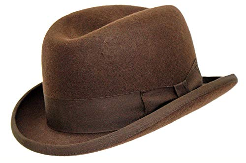 DH Gorro de fieltro 100% lana de Churchill Homburg hecho a mano