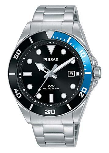 Pulsar Reloj de Vestir Inspirado en Diver con Pulsera de Acero Inoxidable PG8293X1