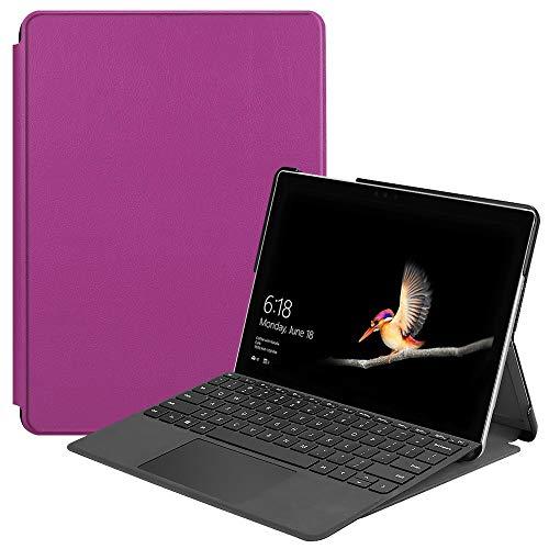 Haiqing Portfolio Business Cover Fit Microsoft Surface Go 10' (2018) Tableta, compatible con teclado con cubierta tipo (color: púrpura)