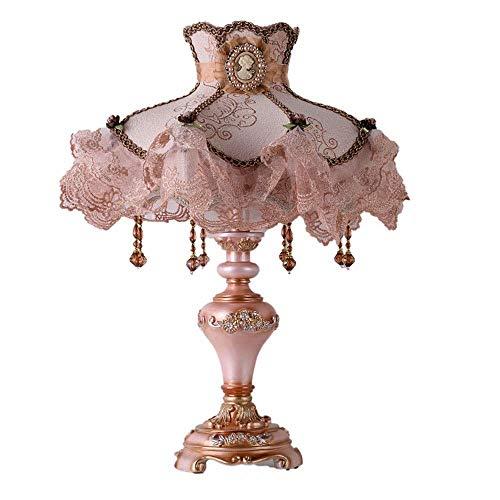 nakw88 Lámpara Escritorio Aprendizaje nórdico Grado Verde Resina Rosa lámpara de Mesa lámpara lámpara de Noche Sombra Flor Encaje