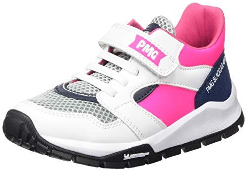 Primigi Scarpa Bambina Suola Michelin, Sneaker a Collo Alto Donna, Rosa (Bianco/Fuxia FL 5440700), 37 EU