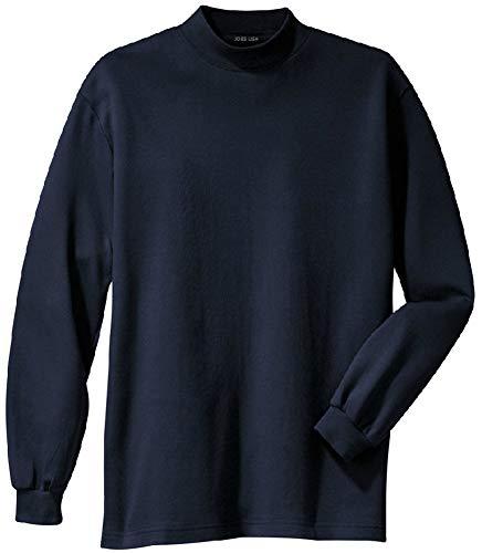 Joes USA tm Mens Interlock Knit Mock Turtleneck,Navy,Large (41-43)