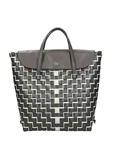 Handed By - Downtown Handbag- Backpack - Tassen/Schoudertas/Rugzak - Kunststof/70% gerecyclede kunststof - Kleur: donkergrijs/betonc - L: 27cm x B: 13cm x H: 36cm