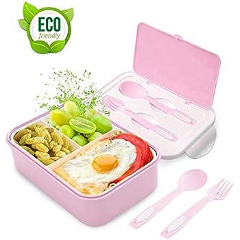Tarro con cierre de clip Lunch to Go 20, 5 x 13, 5 x 7 cm, con 2 compartimentos extra/íbles, antigoteo, apto para microondas y lavavajillas, apto para congelador, sin BPA ni ftalatos