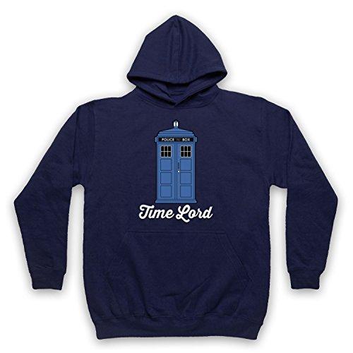 Inspirado por Dr Who Time Lord Tardis No Oficial Adultos Sudadera con Capucha, Azul Marino, Large