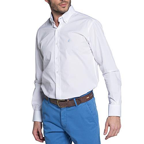 Valecuatro Camisa Hombre Manga Larga, Camisa Lisa de Hombre