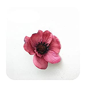 Hopereo 15Colors 7Cm Artificial Silk Poppy Flower Heads for DIY Wedding Decoration Hairpin Wreath Accessories Festival Supplier-7-15 Pieces