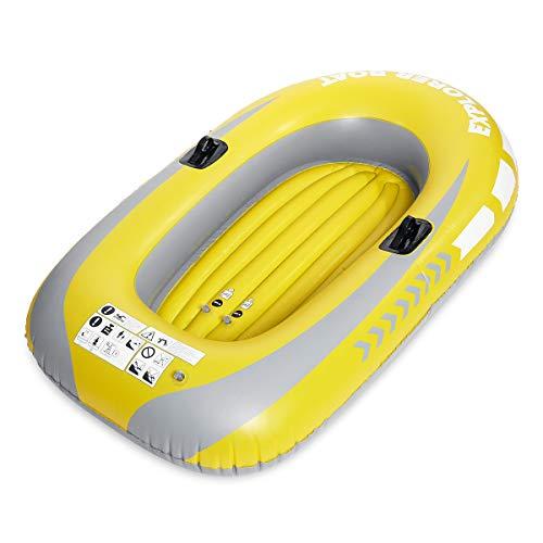 C-FUNN Aufblasbares Boot, Kajak, Kanu, für 2 Personen, 130 kg, Rudern, Air, Driften, Tauchen, Angeln, verschleißfest