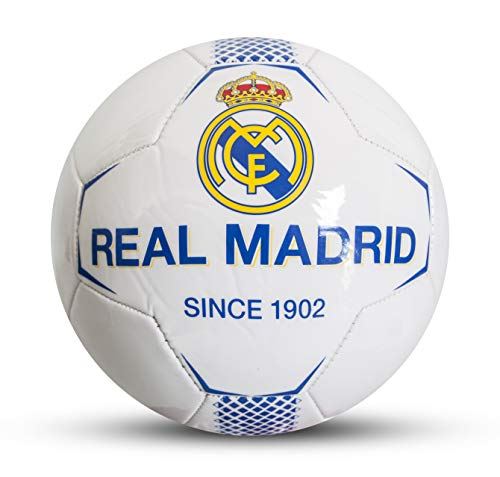 Real Madrid - Balón de fútbol Infantil, Color Blanco, Talla 5