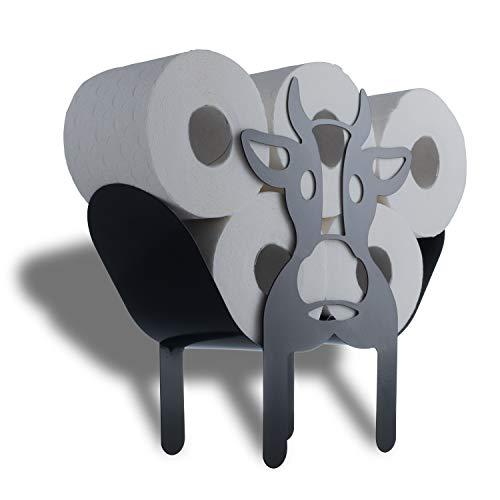 WRPS Design Toilettenpapier-Halter Black Cow Schwarze Kuh