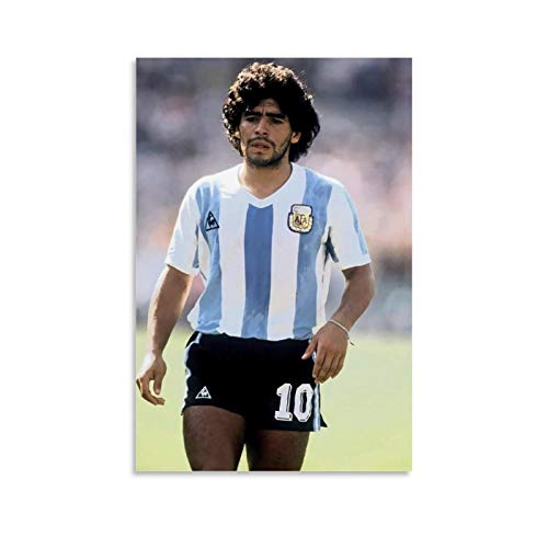 CAJISO Diego Maradona Sports Poster The Hand of God Legends Wall Art Oil Paintings Decorative Painted Sofa Background Wall for Living Room Bedroom Home Decorations Ready to Hang 08x12inch(20x30cm)